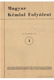 Magyar Kémiai Folyóirat 1986. 92. évfolyam (teljes) - Pungor Ernő - Régikönyvek