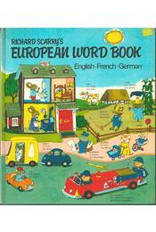 Richard Scarry's European Word Book - Richard Scarry - Régikönyvek