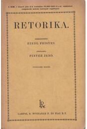 Retorika - Riedl Frigyes, Pintér Jenő - Régikönyvek