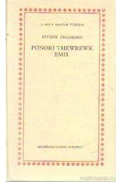 Ponori Thewrewk Emil - Ritoók Zsigmond - Régikönyvek