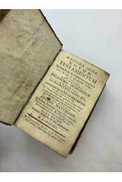Scripturae Sacrae Novum Testamentum - Régikönyvek
