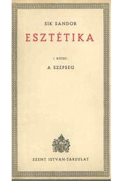 Esztétika I. - Sík Sándor - Régikönyvek