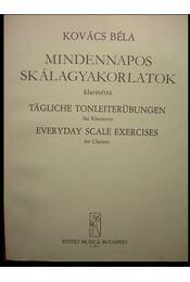 Mindennapos skálagyakorlatok klarinétra - Kovács Béla - Régikönyvek