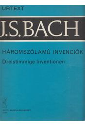 J. S. Bach: Háromszólamú invenciók - Solymos Péter - Régikönyvek