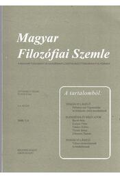Magyar Filozófiai Szemle 2008/3-4. - Steiger Kornél - Régikönyvek