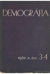 Demográfia 1967. X. évf. 3-4 - Szabady Egon dr. - Régikönyvek