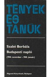 Budapesti napló - Szabó Borbála - Régikönyvek