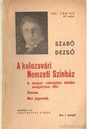 A kolozsvári Nemzeti Szinház - Szabó Dezső - Régikönyvek