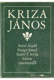 Kriza János - Szabó T. Attila, Faragó József, Antal Árpád - Régikönyvek