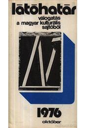 Látóhatár 1976 Október - Szabolcsi Miklós - Régikönyvek