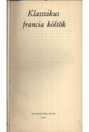 Klasszikus francia költők - Számos nevezetes költő - Régikönyvek