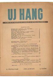 Uj Hang 1953. június 6. szám - Szécsi András (szerk.) - Régikönyvek