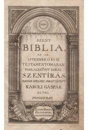 Szent Biblia, az-az: Istennek ó és új testamentomában foglaltatott egész Szentírás (1793) - Régikönyvek