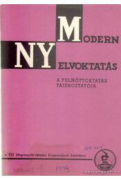 Modern nyelvoktatás XVII. évf. 1. szám - Szépe György - Régikönyvek