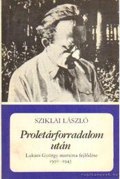 Proletárforradalom után - Sziklai László - Régikönyvek