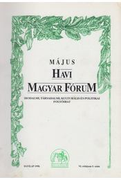 Havi Magyar Fórum VI.évfolyam 5.szám - Szőcs Zoltán, Vasvári Erika - Régikönyvek