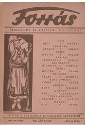 Forrás 1943 október I. évfolyam 10. szám - Szombathy Viktor - Régikönyvek