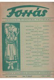 Forrás 1943 szeptember - I. évfolyam 9. szám - Szombathy Viktor - Régikönyvek