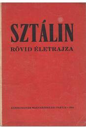 Sztálin rövid életrajza - Régikönyvek