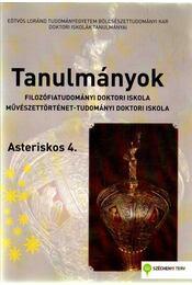 Tanulmányok - Filozófiatudományi doktori iskola, művészettörténet-tudományi doktori iskola - Bárdosi Vilmos - Régikönyvek