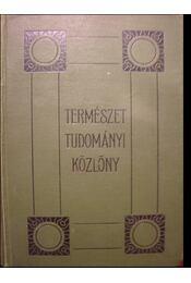 Természettudományi Közlöny 1929. 61. kötet + pótfüzetek - Régikönyvek