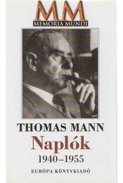 Naplók - Thomas Mann - Régikönyvek