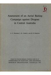 Assessment of an Aerial Baiting Campaign against Dingoes in Central Australia - Több szerző - Régikönyvek