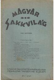 Magyar Sakkvilág 1928. Október. - Tóth László - Régikönyvek