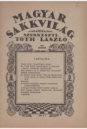 Magyar sakkvilág 1946 december - Tóth László - Régikönyvek