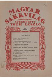 Magyar sakkvilág 1946 február - Tóth László - Régikönyvek