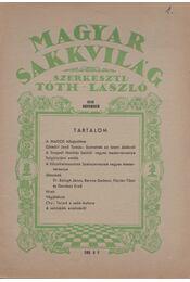 Magyar sakkvilág 1946 november - Tóth László - Régikönyvek