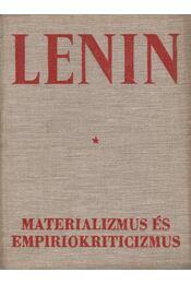 Materializmus és empiriokriticizmus - V. I. Lenin - Régikönyvek