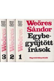 Egybegyűjtött írások I-III. - Weöres Sándor - Régikönyvek